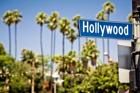 hollywood boulevard: Hollywood sign in LA