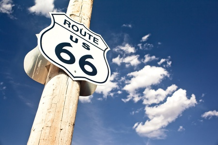 66: Route 66 sign Stock Photo