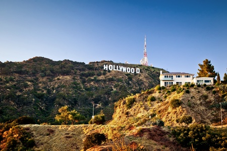 LOS ANGELES, USA - JULY 18: View of Hollywood sign on July 18, 2011 in Los Angeles, California. Sign is located in the Hollywood hills area of Mount Lee, built in 1923 Stock Photo - 12059643