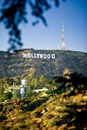 LOS ANGELES, USA - JULY 18: View of Hollywood sign on July 18, 2011 in Los Angeles, California. Sign is located in the Hollywood hills area of Mount Lee, built in 1923 Stock Photo - 12059686