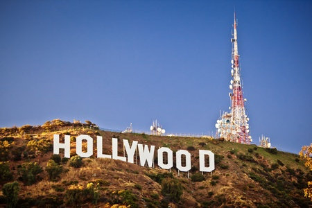 hollywood hills: LOS ANGELES, USA - JULY 18: View of Hollywood sign on July 18, 2011 in Los Angeles, California. Sign is located in the Hollywood hills area of Mount Lee, built in 1923