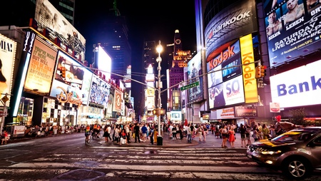 NEW YORK CITY - JULY 1: Times Square featured with Broadway Theaters and animated LED signs is a symbol of New York City and the United States, July 1, 2011 in Manhattan, New York City. Stock Photo - 12059636