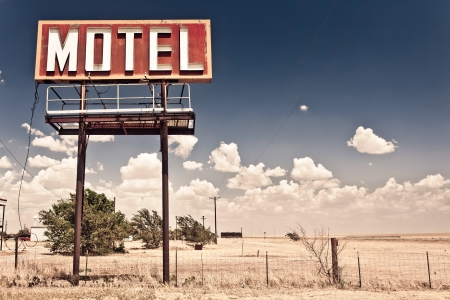 Old motel sign photo