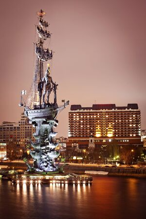 peter the great: Monument to Peter the Great in Moscow