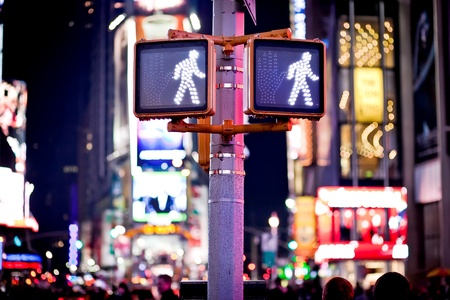 Keep walking New York traffic sign photo