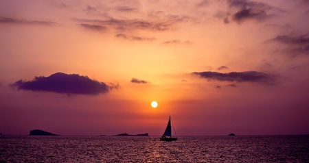 Sailboat on the open sea