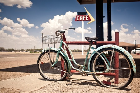 bycicle: Rusted vintage bike Stock Photo