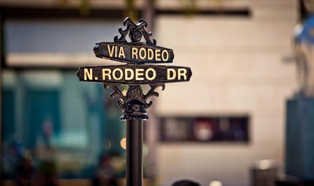 superficial: Rodeo Drive sign Stock Photo