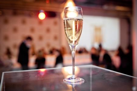 Full glasses of champagne photo