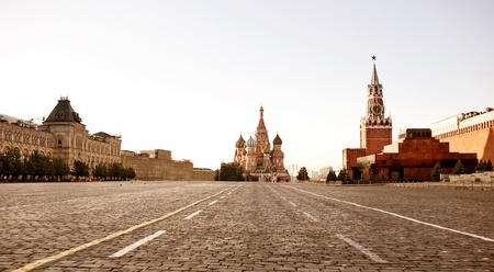 at town square: Red Square in Moscow Stock Photo