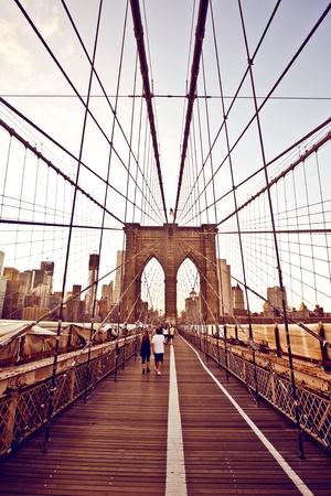 Brooklyn Bridge in New York Editorial