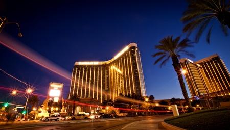 tropicana: LAS VEGAS - JULY 13: Night view of Mandalay Bay Hotel and Casino on the Las Vegas Strip, Nevada July 13, 2011 More than 37.5 million people visit Las Vegas every year. Editorial