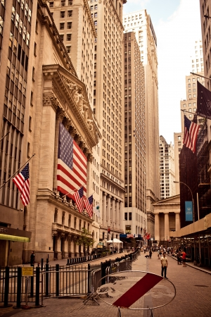NEW YORK - AUGUST 18 : New York Stock Exchange on August 18, 2012 in New York, NY. With origins as far back as 1792, the NYSE is currently the world's largest exchange by market capitalization.