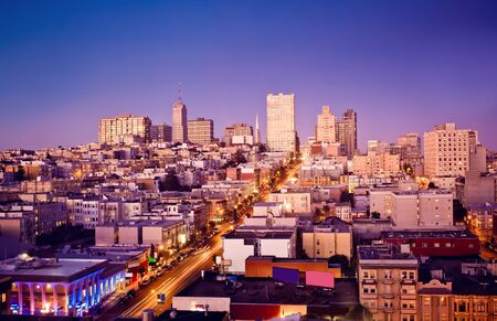 bay area: View of San Francisco, USA