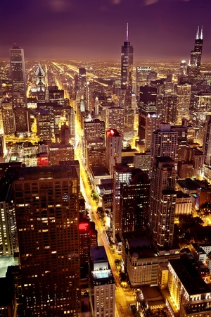 Aerial view  of Chicago downtown Stock Photo - 15893829