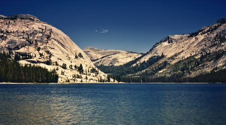 Mountain lake in Yosemite Valley, California photo