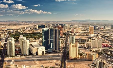 vegas strip: Aerial view of Las Vegas