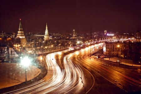 Kremlin view at night photo