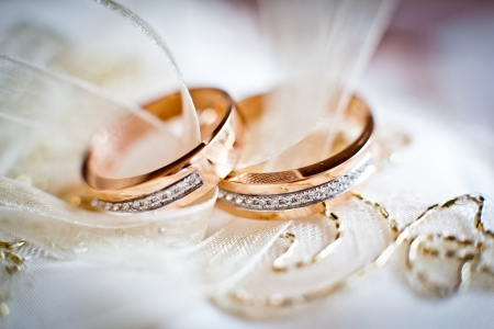 Two wedding rings  Standard-Bild