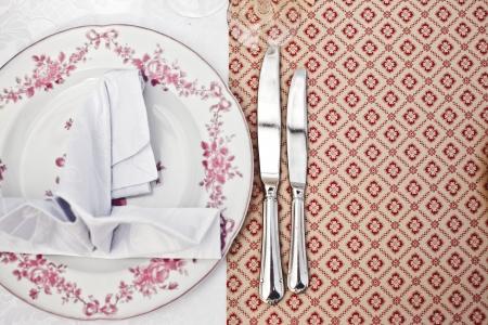 Pusty talerz obiad, rysunek zestaw noża Zdjęcie Seryjne