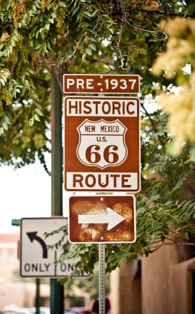 ramble: Route 66 sign in United States
