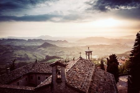 san marino: Church in San Marino