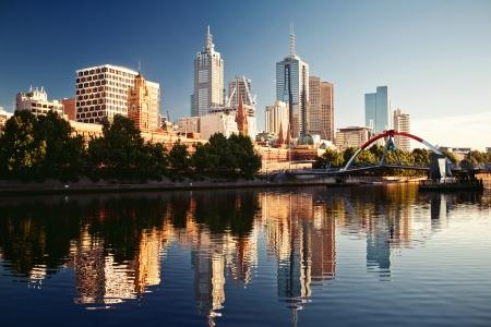 Een zicht op de rivier de Yarra, Melbourne, Victoria, Australië Stockfoto