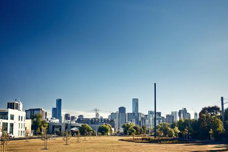 australia day: A view of Melbourne city, Victoria, Australia Stock Photo