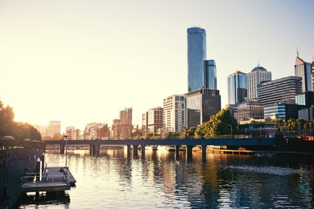 waterways:  A view of the Yarra River, Melbourne, Victoria, Australia