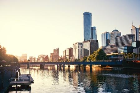 Een zicht op de Yarra River, Melbourne, Victoria, Australië Stockfoto