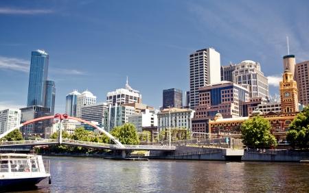 ヤラ川、メルボルン、ビクトリア、オーストラリアの眺め 写真素材