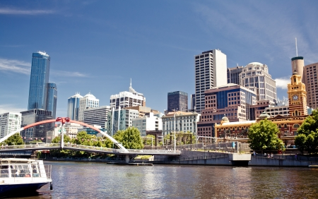 melbourne: A view of the Yarra River, Melbourne, Victoria, Australia