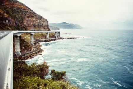 View of Grand pacific drive near Sydney, Australia
