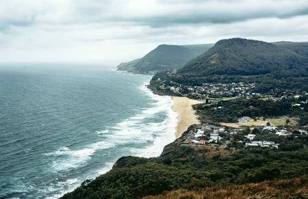 kiama: View of Grand pacific drive near Sydney, Australia