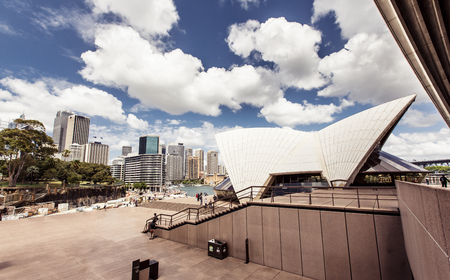 utzon: View of Sydney Opera House, Sydney, Australia Stock Photo