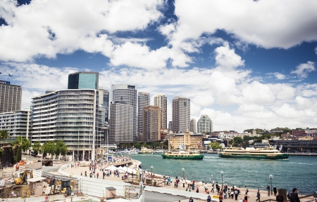 port jackson: Sydney Harbour with Sydney opera house, Australia