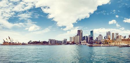 Sydney Harbour met operahuis van Sydney, Australië Stockfoto