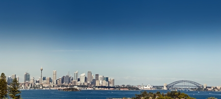 Sydney harbor and downtown buildings in Sydney, Australia. photo