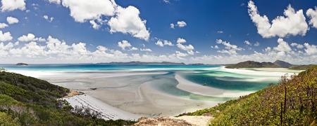 barrier island: Whitehaven Beach in the Whitsundays Archipelago, Queensland, Australia Stock Photo