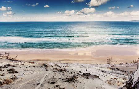 kiama: Rainbow Beach at beautiful sunset, Queensland, Australia