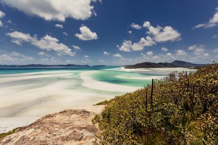 whitehaven: Whitehaven Beach in the Whitsundays Archipelago, Queensland, Australia Stock Photo
