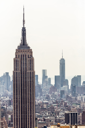 엠파이어 스테이트 빌딩 뉴욕시 맨해튼의 스카이 라인 공중보기
