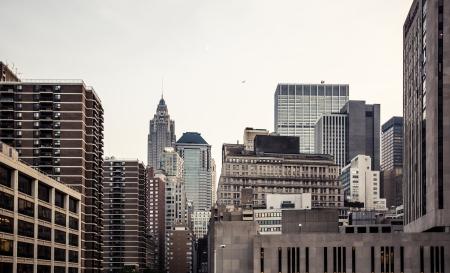 New York City Manhattan skyline aerial view with Empire State building photo