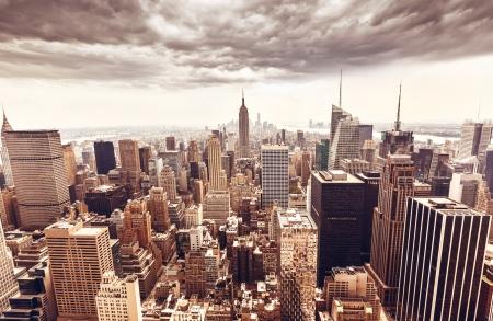 エンパイア ・ ステート ・ ビルディング、ニューヨーク市マンハッタン スカイライン撮