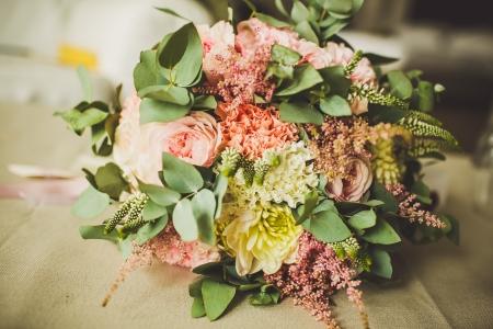 Decoration of wedding flowers. Part of interior