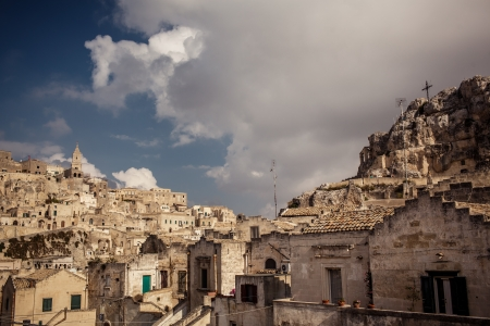 sassi: Sassi the historic center of the city Matera in Italy
