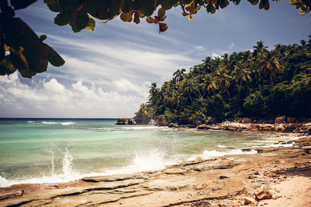 dominican republic:  Beach and ocean before storm, Dominican Republic