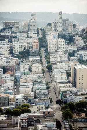 Panoramic view of San Francisco, California, USA photo
