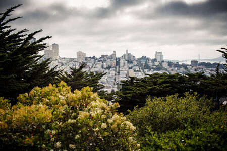 Panoramic view of San Francisco, California, USA photo
