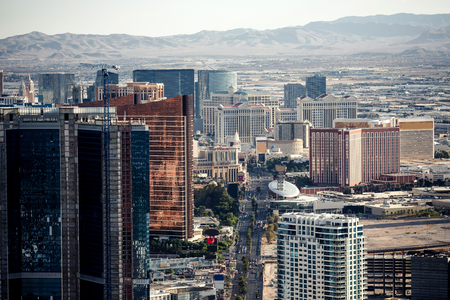 las vegas lights: Aerial view of Las Vegas taken fpom Stratosphere